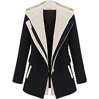 IEason Cardigans - Chamarra de manga larga y capucha desmontable para mujer