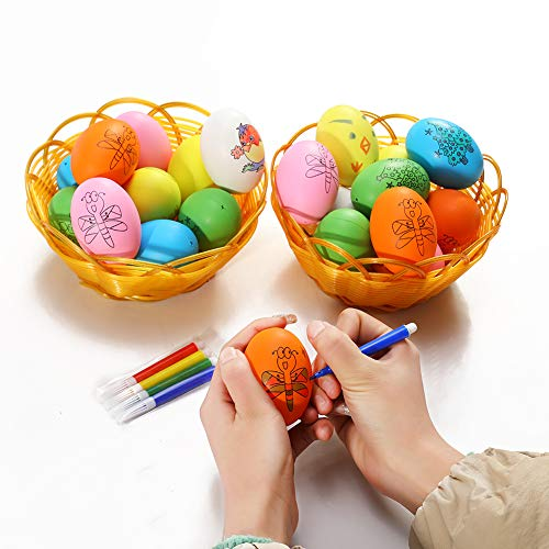 Easter Eggs,DIY Hand Made Painted Graffiti Easter Egg Home Decoration Crafts and Gifts Ornaments for Kids 20PACKS