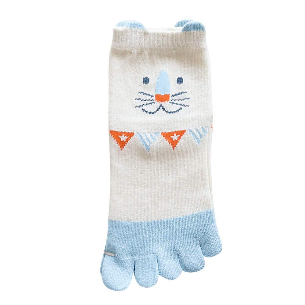 conqueror 1 paires de chaussettes Toe de conception animale d'enfants chaussettes cinq chaussettes drô les de coton de chaussettes de doigt confortables Chaussette de noel