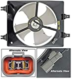 APDTY 731342 A/C Condenser Cooling Fan Blade Motor Shroud Assembly Fits 1999-2004 Honda Odyssey Right Side (Replaces 38615-P8F-A00, 38611-P8F-A01, 38616-P8F-A01)
