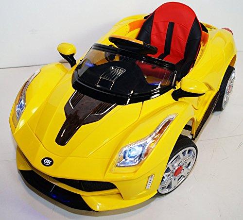 Ferrari Style FRR-JE116 Battery Operated Ride On Car Toy / - Ferarri Yellow