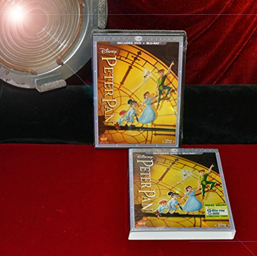(Rare New! PETER PAN Blu Ray & DVD, 2 DVD Disc, NEW Sealed Near Mint - DIAMOND Sleeve)