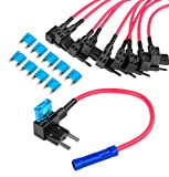 Nilight Fuse Holder Add-a-circuit Fuse TAP Adapter Mini ATM APM Blade Fuse Holder - 10 Pack , 2 years Warranty