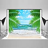 7x5ft Tropical Rainforest Photography Backdrop Summer Beach Background Cloth for Wedding Photo Booth Custom Size Digital Printed Without Wrinkles