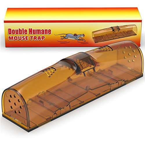 Humane Mouse Trap No Kill - Smart Safe Mouse Trap - Live Catch Rodent Trap - Friendly Cage for Big and Small Mice Rats Hamsters - Child & Pet Safe