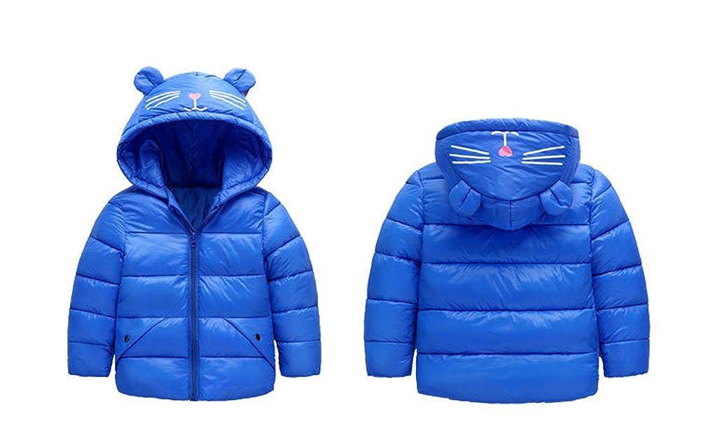 Fairy Baby Baby Boys Girls Winter Ultra Light Cotton Jacket Kids Ear Warm Coat Hoodie Outwear