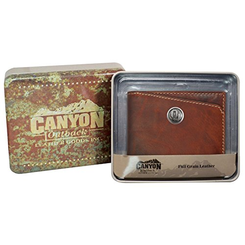 Canyon Outback Bi-fold Brown Wallet-Oklahoma Sooners