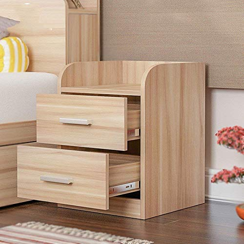 CWJ Household Small Table Bedside Nightstand Cabinet Wenge Furniture Chest Drawer Storage Shelf Simple Creative Bed Multifunction Table,Wood