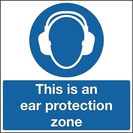 300 x 300 mm esta es una zona de protección auditiva ...