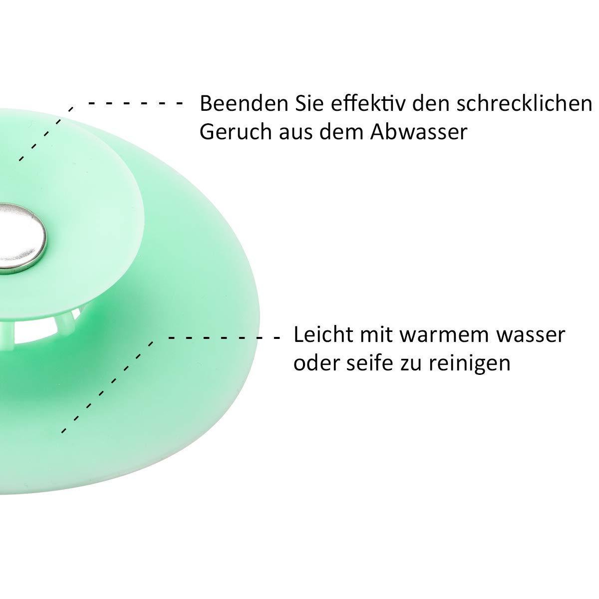 Abfluss St/öpsel f/ür Badewanne 2 in 1, 4 Farben Bodenabl/äufe Haarsieb K/üchensp/ülen Waschbeckenst/öpsel,Badewannenst/öpsel PAMASE 4 St/ück Abflussstopfen Abflusssieb