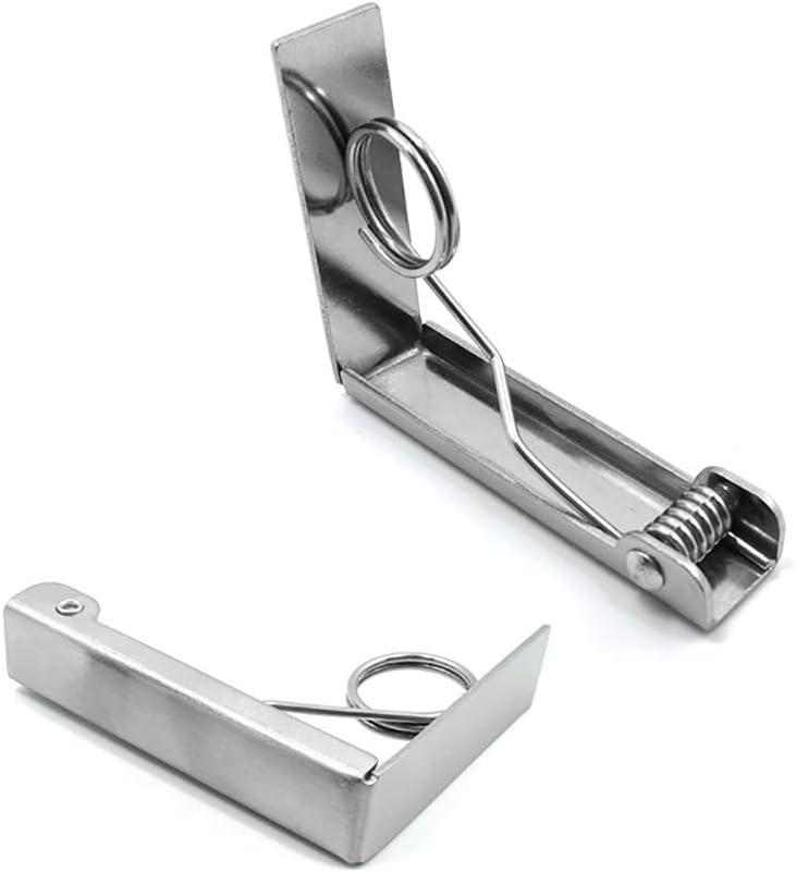 feste in acciaio inox 4 pezzi Clip per tovaglia da picnic flessibile per matrimoni TopHGC
