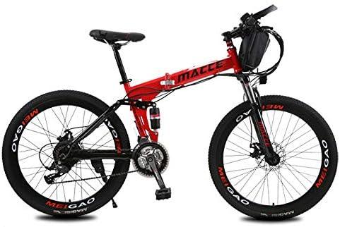 L&U Bicicleta eléctrica Bicicleta de Nieve Bicicleta de montaña de 250W para Hombres - Pedal con Frenos de Disco y Horquilla de suspensión (batería de Litio ...