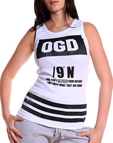 L.Gonline - Camiseta sin mangas - para mujer blanco