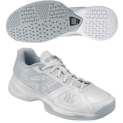 Wilson Women's Rush Tennis Shoes (White/White/Ice Grey) (10 B(M) US) (Wilson Womens Tennis Apparel)