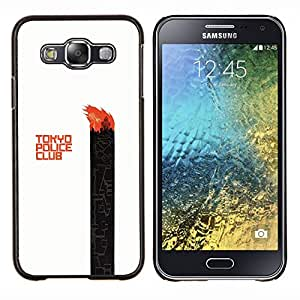 Caucho caso de Shell duro de la cubierta de accesorios de protección BY RAYDREAMMM - Samsung Galaxy E5 E500 - Tokyo Police Club