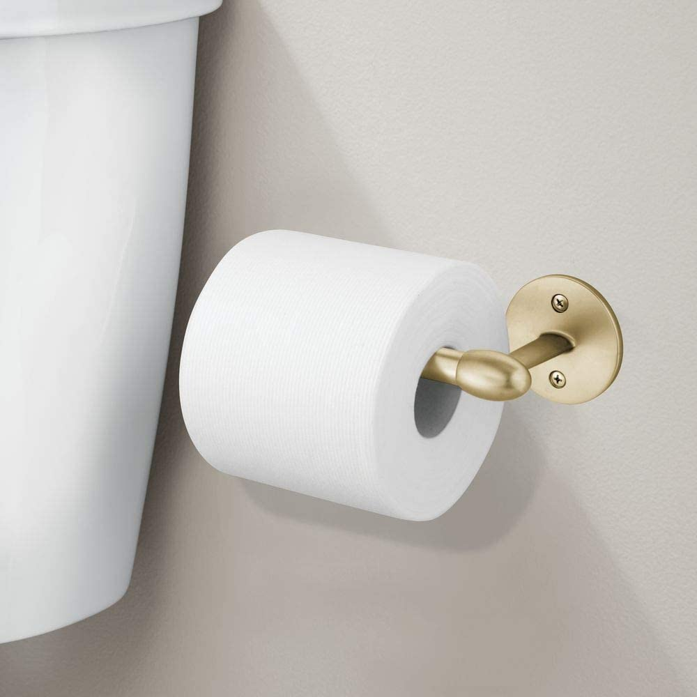 New Chrome Toilet Roll Tissue Paper Dispenser Holder Round Wall Mounted ❤