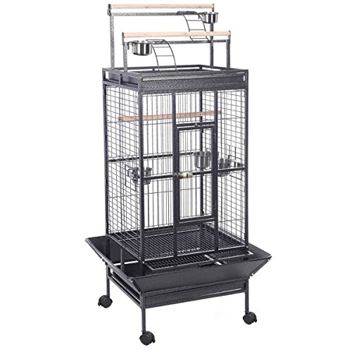 Parrot Bird Finch Cage Cockatiel Parakeet Ladder Iron Hou...