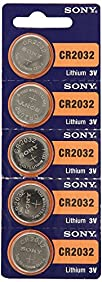 CR2032 Battery Lithium Coin Batteries (Pack of 15) by Sony