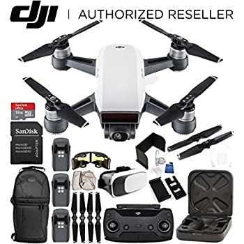 DJI Spark Portable Mini Drone Quadcopter (Alpine White) + DJI Spark Remote Controller EVERYTHING YOU NEED Ultimate Bundle
