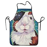 startoronto Guinea Pig Animal Aprons For Women/men Lightweight Grilling Waist Cooking Funny Chef Apron