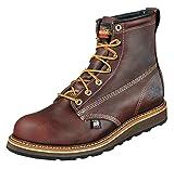 Thorogood American Heritage 6'' Plain Toe Rubber Boot, Walnut, 12 D US