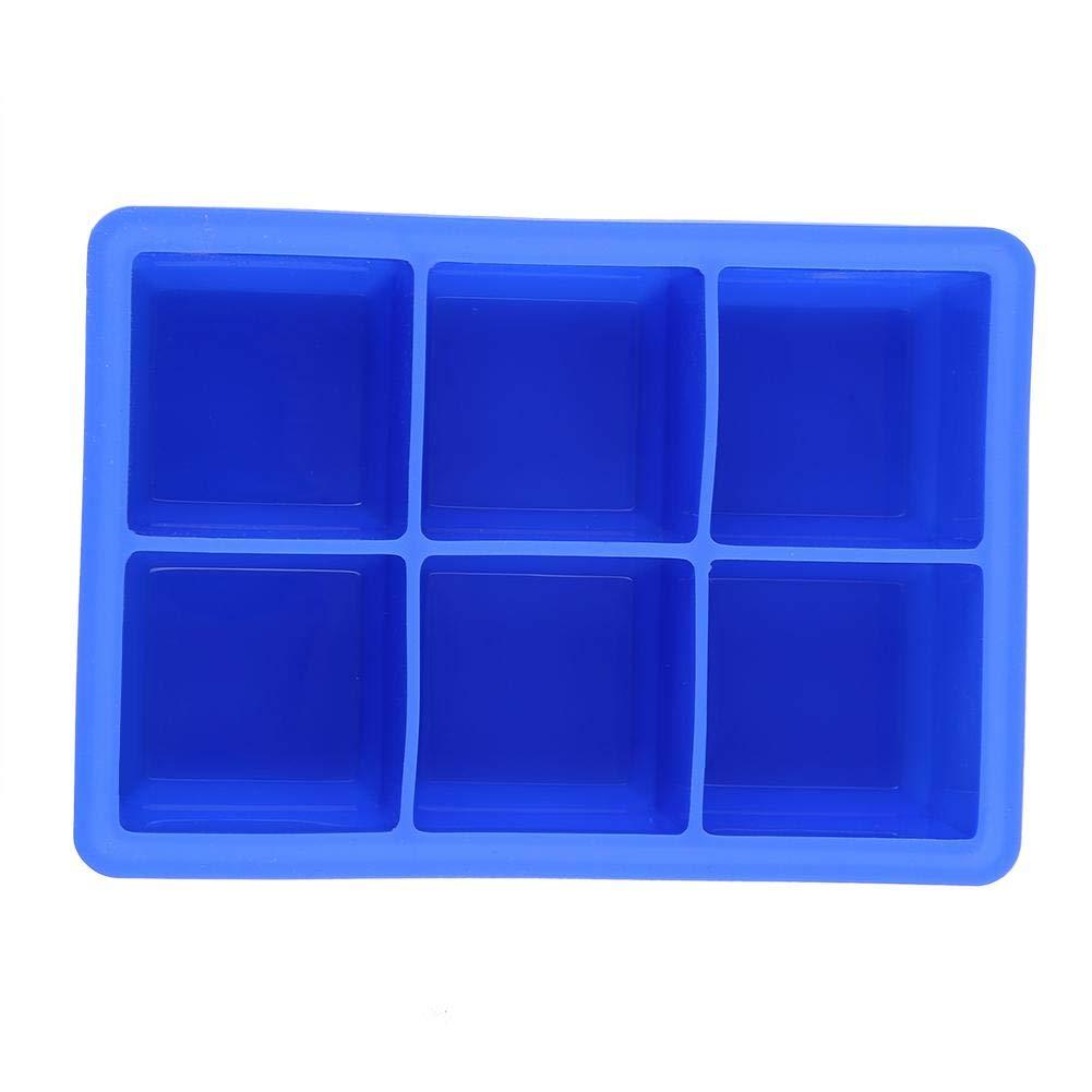 Morningtime Bac /À Gla/çons en Silicone Moulle /À Gla/çon 6 Cubes de Glace Carr/és Grande Couleur de Glace Al/éatoire 16.5x11.5x5cm