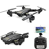 Inverlee DM95HW Wifi FPV 0.3MP Camera Foldable 2.4G 6-Axis Selfie Quadcopter Drone RCToys,Great Xmas Gift (Black)