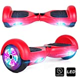 CBD Hoverboard for Kids, 6.5 Inch Two Wheel Hoverboard, Self Balancing Electric Scooter with LED Lights, UL2272 Certified (Red)
