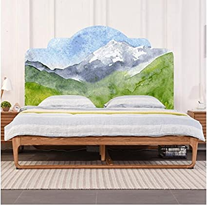 Amazon Com Imitation Headboard Wallpaper Bed Posted Mountain