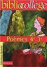 Poèmes, 4ème, 3ème (Livre de l'élève) par Sadighi
