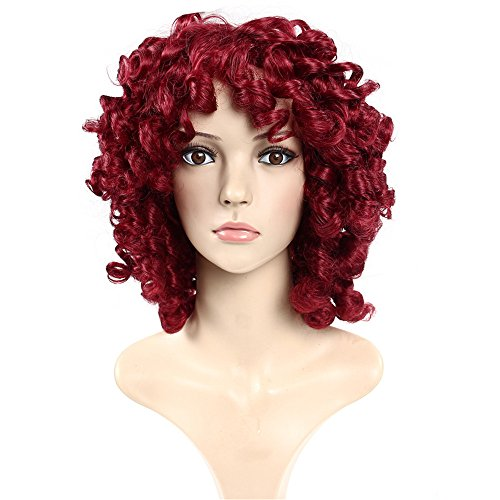 Aoert Ladies Short Curly Hair Wigs for Women As Real Hair Side Part Synthetic Heat Resistant Cosplay Wig for Date, Party 14
