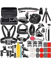 Neewer Upgraded 50-in-1 Action Camera Accessoire Kit Compatibel met GoPro Hero 10 9 8 Max 7 6 5 Zwart GoPro 2018 Sessie Fusion Zilver Wit Insta360 DJI AKASO APEMAN Campark SJCAM Action Camera etc
