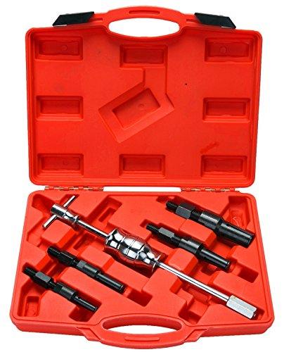 5PCS Inner Bearing Blind Hole Remover Extractor Puller Set Slide Hammer Tool Kit