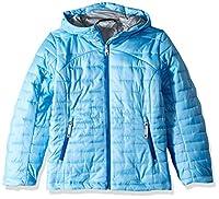 Spyder Girls' Edyn Hoody Insulated Jacket, Blue Ice/Turkish Sea, Medium