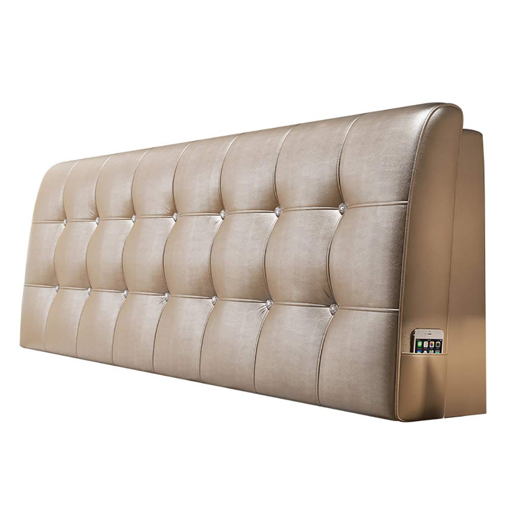 GUOWEI ベッドサイドクッション 布張り ヘッドボード ウェッジ バックレスト サポートスポンジ 6色 5サイズ 180x58x10cm 180x58x10cm メタリック B07LFF84JM