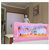 Kiddale Bedrail : Extra Long (6x2.2 ft) Foldable Safety Guard to Protect Baby, Kids & Senior citizen from side falling- Baby and Kids Products-Pink
