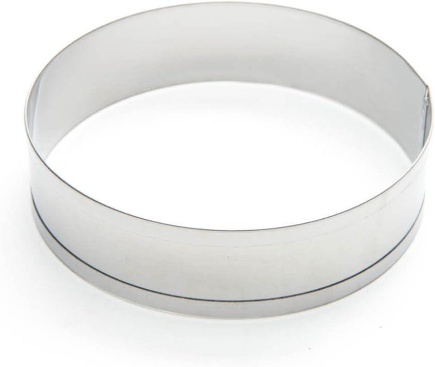 Fox Run 4685 English Muffin Ring Molds, Set of 4, Silver