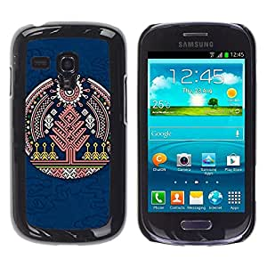 For Samsung Galaxy S3 MINI 8190 - Blue Chinese Tree Emblem /Modelo de la piel protectora de la cubierta del caso/ - Super Marley Shop -