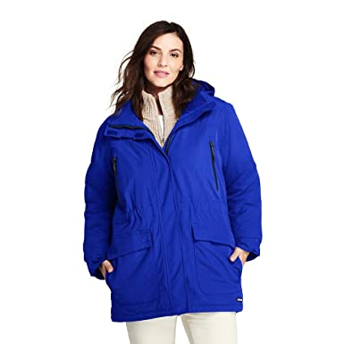 07a7db6963 Lands' End Women's Plus Size Squall Winter Parka, 2X, Electric Blue at  Amazon Women's Coats Shop