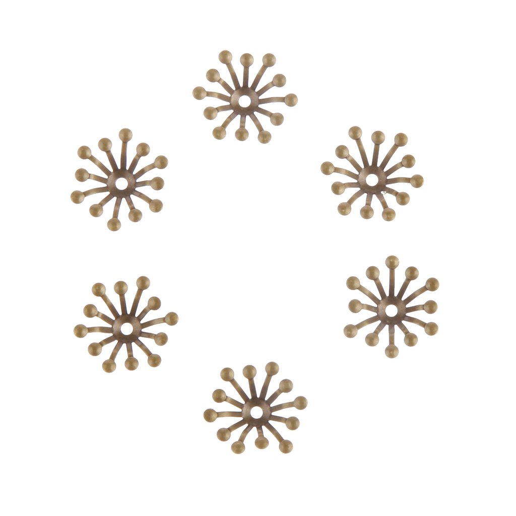 100 pcs 13mm Bead Cap ends DIY Accessories Jewellery Findings Craft - Gold Generic 4336828110