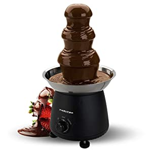THRITOP Chocolate Pro Fountain,3-Tier Stainless Steel Tower Chocolate Fondue, Fountain kit 11' Black 1lb