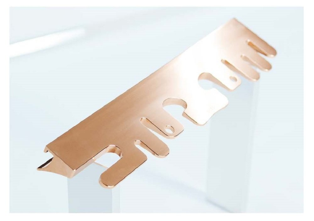 Octo Material First Antibacterial Toothbrush Holder Stand for Bathroom Vanity ROSE GOLD