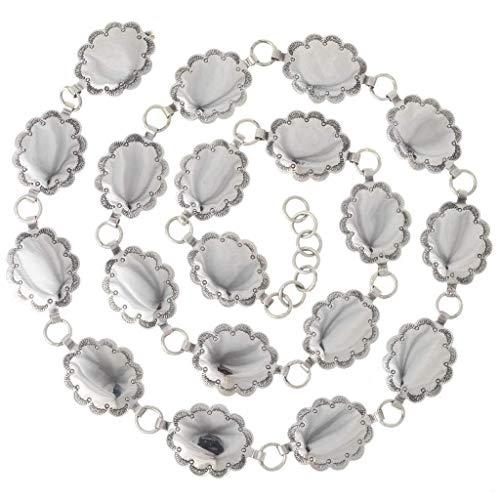 Rocky Mountain Silver Link Concho Belt Adjustable 0391