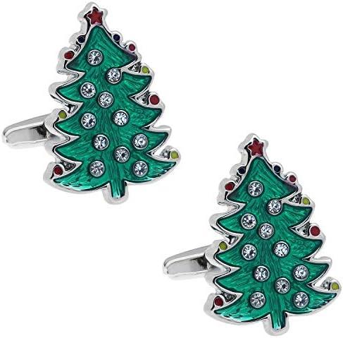 クリスタル クリスマスツリー カフス カフスボタン カフリンクス n02561