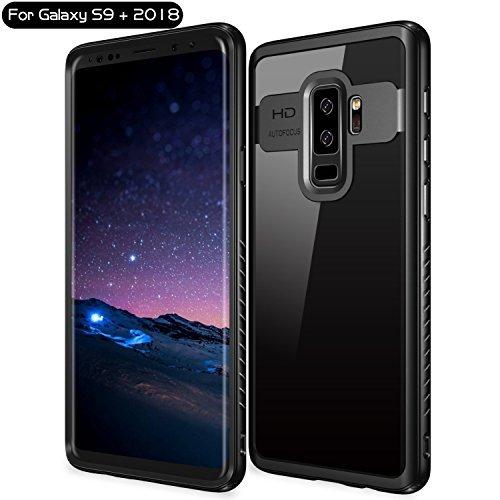 Vapesoon Lightweight Clear Slim Case for Samsung Galaxy S9 Plus (Black/Clear) (Clear Body Lightweight)