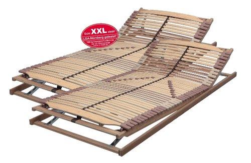 XXL-SET 180x200 cm bestehend aus: 2 x Lattenrost PANDA-SUPERFLEX XXL KF verstellbar in 90x200 cm bis 200 kg getestet - SOFORT LIEFERBAR