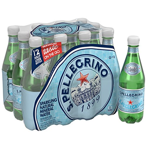 S.Pellegrino Sparkling Natural Mineral Water, 16.9 fl oz. (12 Count) (Water Sparkling)