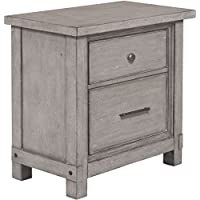 Samuel Lawrence Prospect Hill 2 Drawer Nightstand in Gray