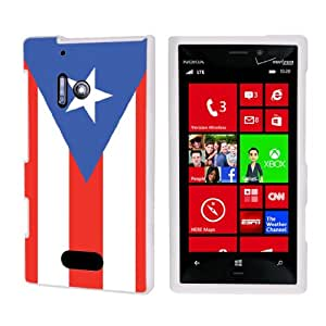 Nokia Lumia 928 White Protective Case By SkinGuardz - Puerto Rican Flag