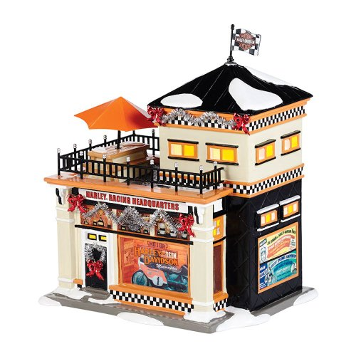 Harley® Racing Headquarters | Department 56 Lighted Building (4036563) Dept 56 Harley Davidson